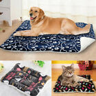 Large Pet Dog Cat Bed Printed Soft Warm Mattress Mat Blanket Puppy Cushion House
