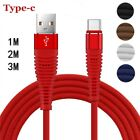 Braided 1-3M  Micro USB Type-C & IOS FAST USB Charger Charging Data Sync Cable