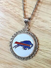 STERLING SILVER PENDANT W/ HAND PAINTED NFL BUFFALO BILLS SETTING - GIFT a on eBay