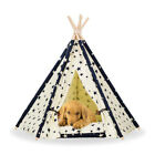 Pet Teepee Tent Dog Cat Toy House Portable Washable Pet Bed Star Pattern S L