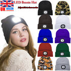 Unisex Beanies Hat 4 LED Head Light Torch Knitted Hat Camping Running Xmas Gifts