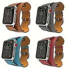 For Apple Watch Band 38/40mm 42/44mm Genuine Leather Cuff Strap iwatch Series 4 image