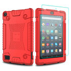 For Amazon Kindle Fire HD 8 2018 8th Gen Shockproof Case With Screen Protector