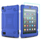 For Amazon Fire 7 2019/HD 8 2018 9th Gen Tablet Case Cover / HD Screen Protector
