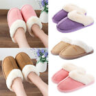 Men Women Home Floor Mules Shoes Thick Bottom Fur Winter Warm Comfy Slippers