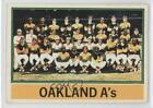 1976 Topps Photo Checklist Sheets Cut Singles #421 Oakland Athletics Team Card on Ebay