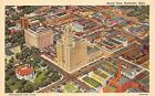 Rochester Minnesota Aerial View~Cars in Street-Hotel Kahler~Storefronts~1941 PC
