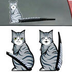 Funny Cartoon Cat Moving Tail Wiper Decals Sticker Auto Car Rear Window Decal RS