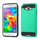 For Samsung Galaxy Grand Prime/Plus Brushed Armor Hybrid Protector Case Cover