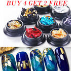 Nail Art Glitter Aluminum Foil 3D Flake Sticker UV Gel Polish Paillette Decors