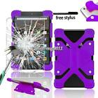 Silicone Stand Cover Case + Tempered glass Screen Protector For Amazon Fire 7 8