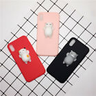Cute Squishies Silicone Cat Soft TPU Phone Case Cover for iPhone 6/6s7/7 Plus/X
