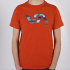 RVCA Va Mending Tee Red Oxyde T-Shirt Rot Orange