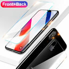 Front & Back Clear Tempered Glass Screen Protector Film Cover For iPhone Series