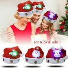 Christmas LED Light Hat Cartoon Santa Claus/Elk/Snowman Xmas Cap for Adult Kids