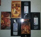 1st 3 Indian Jones vhs tape lot in good to vg condition