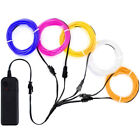 Flexible Neon LED Light Glow EL Wire String Strip Rope Tube Christmas 5 by 1M