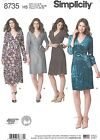 Simplicity 8735 Sewing Pattern Misses/Miss Petite 6-24 Wrap Dress Flair or Slim