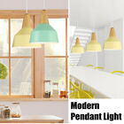 Modern Nordic Style Wood Metal Pendant Lamp Ceiling Lights Fixture Lampshade