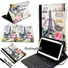 Universal Leather Stand Cover Case With Keyboard For Various Tablets + Stylus