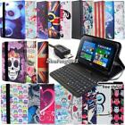 "Leather Stand Cover Case With Keyboard For Various 8"" Acer Iconia Tablet + pen"