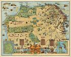 1927 San Francisco Funny Historic Old Map - 24x30