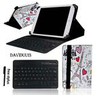 LEATHER STAND COVER CASE + Bluetooth Keyboard For Various ViewSonic ViewPad Tab