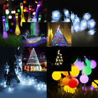 LED Solar Power Fairy Lights String Outdoor Party Wedding Xmas 30/50/100/200 UK