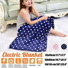 '3 Gears Washable Control Electric Heated Throw Blanket Washable Fleece Cosy Pad