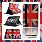 Smart Stand Leather Cover Case For Amazon Kindle Fire 7 /HD 8 10 Tablet + Stylus