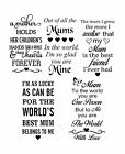 Mother Mum Vinyl Decal Sticker Suitable For Wine Bottle And More.