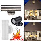LED Wall Lights Motion sensor Steel Up Down Indoor Outdoor Stainless/Plastic UK