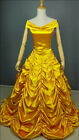New Princess Belle Costume Beauty And The Beast Cosplay Women Fancy Long Dress