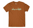 Chocolate Skateboards Original Chunk Evan Hecox Logo Texas Orange T-Shirt image