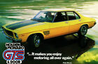 HOLDEN MONARO - Peter Brock Quote - Yellow - Canvas Print Poster 12X16""