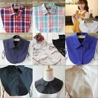 Kyпить US Detachable Women Fake Collar Dickey Blouse Shirt Cotton Plaid Solid Choker на еВаy.соm