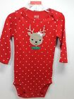 Внешний вид -  Baby My First Christmas Reindeer One Piece Outfit Creeper 0-3,3-6,6-9