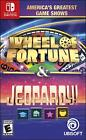 America's Greatest Game Shows Jeopardy Wheel of Fortune (Nintendo Switch) NEW!!!