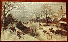 1970 SPRINGBOK Jigsaw Puzzle WINTER LANDSCAPE by LUCAS VALENBORCH (Lot # 3) CIB