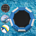 Inflatable Water Trampoline Floating Island Lake Raft Bouncer Anchor Kids
