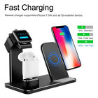 3in1 Qi Wireless Charging Stand For iPhone Dock Holder For Apple Watch Airpods C