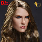 1/6 Charlize Theron female head sculpt Blonde hair FOR Hot toys Phicen