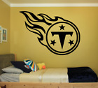 TENNESSEE TITANS LARGE WALL VINYL ART DECAL 22X30 INCHES BEDROOM SPORTS LOGO $24.95 USD on eBay