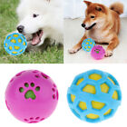 Dog Toys Pets Puppy Chew Squeaker Squeaky Sound Rubber Ball Dia. 8.5cm/ 8cm