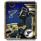 """Blues OFFICIAL National Hockey League, """"Vintage"""" 48""""x 60"""" Woven Tapestry Throw $37.99 USD on eBay"""
