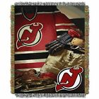 """Devils OFFICIAL National Hockey League, """"Vintage"""" 48""""x 60"""" Woven Tapestry Throw $37.99 USD on eBay"""