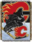 """Flames OFFICIAL National Hockey League, """"Home Ice Advantage"""" 48""""x 60"""" Woven Tape $37.99 USD on eBay"""