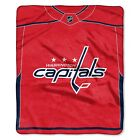 """Capitals OFFICIAL National Hockey League, """"Jersey"""" 50""""x 60"""" Raschel Throw  by Th $37.99 USD on eBay"""