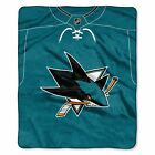 """Sharks    OFFICIAL National Hockey League, """"Jersey"""" 50""""x 60"""" Raschel Throw  by T $37.99 USD on eBay"""