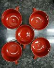 Beautiful 5 VILLEROY & BOCH china GRANADA Red Coffee Cups Mugs made in Luxembour